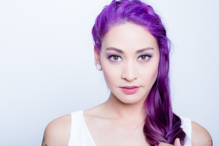 Lila Haare, Haarfarbe lila